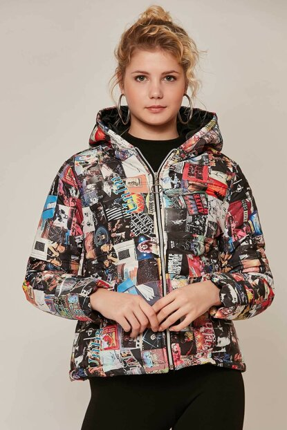 Women's Multicolor Printed Inflatable Coats 10405 Y19W126-10405