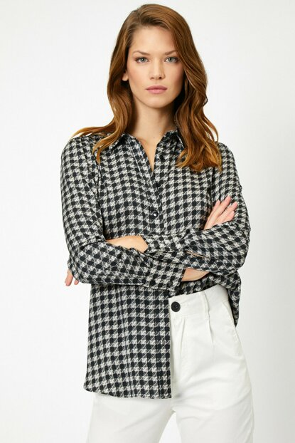 Women's Black Patterned Shirt 0KAK68180PW