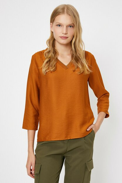 Women's Coffee Blouse 0KAK68241PW