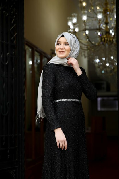 Lace Hijab Dress LVNZ4328