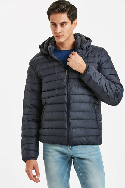Men's Navy Blue Inflatable Coat 8W6200Z8