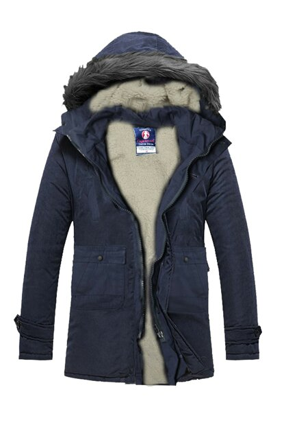 Slim Fit Removable Hooded Coat - fys1261