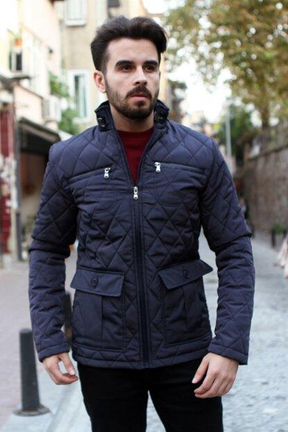 Navy Blue Men's Coat DU2174260003