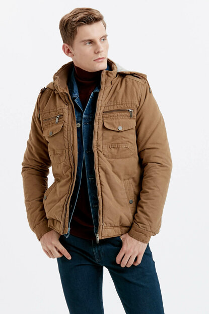 Men's Brown Coat 8W1826Z8
