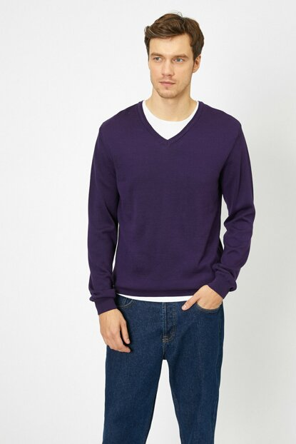 Men's Purple Sweater 0KAM93012LT