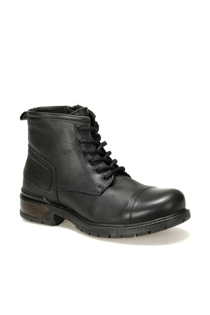 Genuine Leather Black Men Boots 2008146 C 19