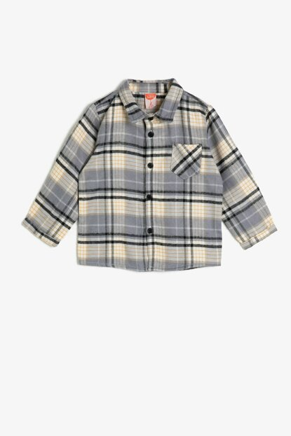 Gray Boy Plaid Shirt 0KMB66516GW