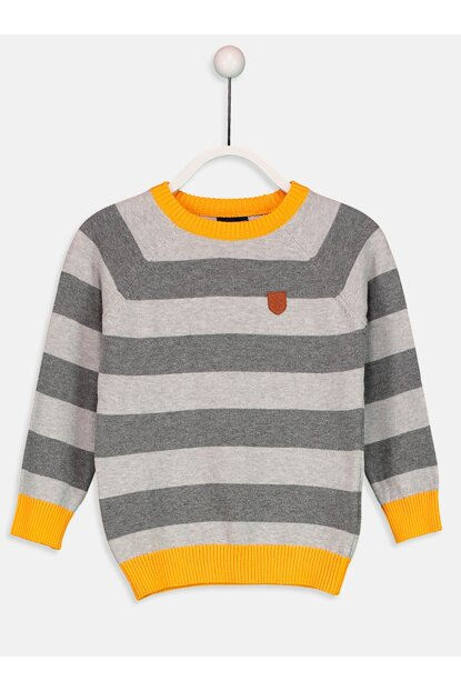 Boys' Dark Gray Striped Lfz Sweater 9W0051Z4