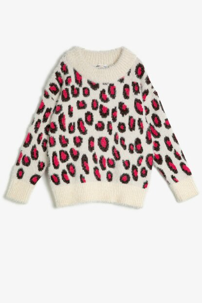 Ecru Girl Patterned Sweater 0KKG97309OT