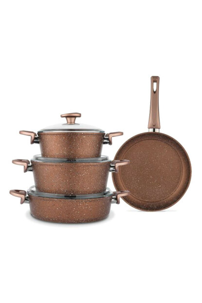 Toll YY Cookware Set - 7 Pieces - Copper_Coffee t1043