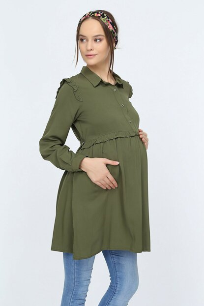 Görsin Pile Detailed Maternity Tunic 8637