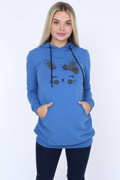 Görsin Hooded Maternity Sweatshirt 8614