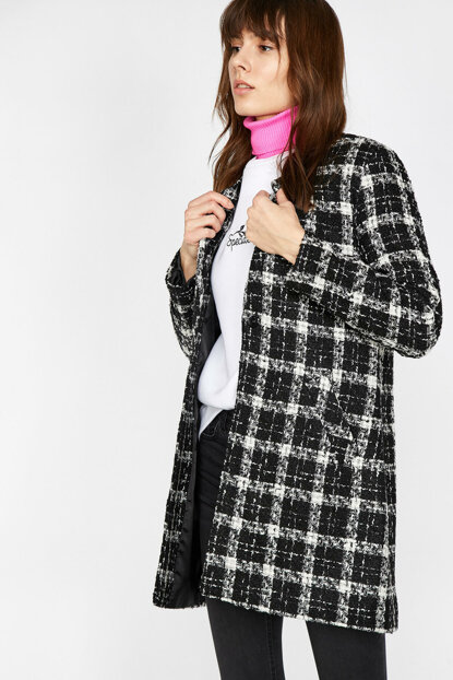Women's Black Coat 9KAK06106EW