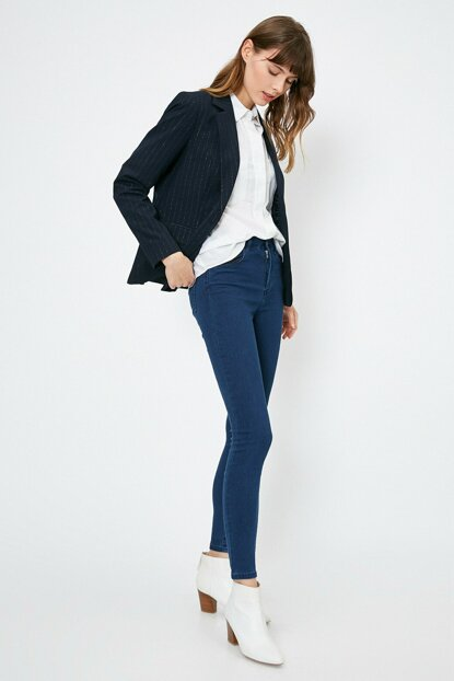 Women Blue Trousers 0YAK47644DD