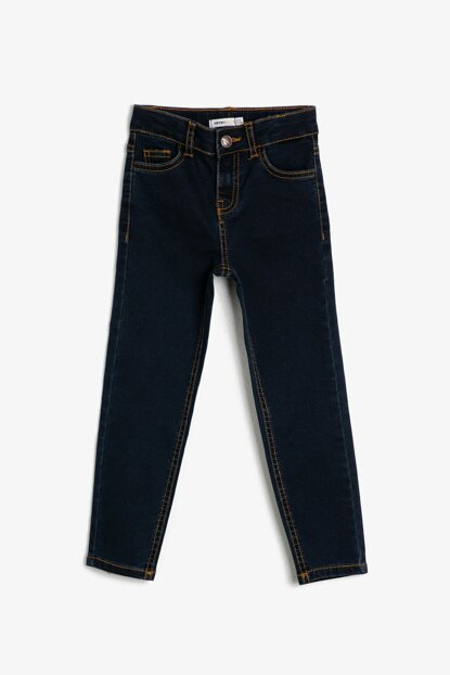 Blue Pocket Detailed Jean Trousers 0YKB46277DD