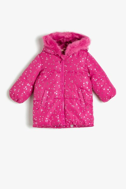 Pink Girl Hooded Inflatable Coat 0KMG07517OW