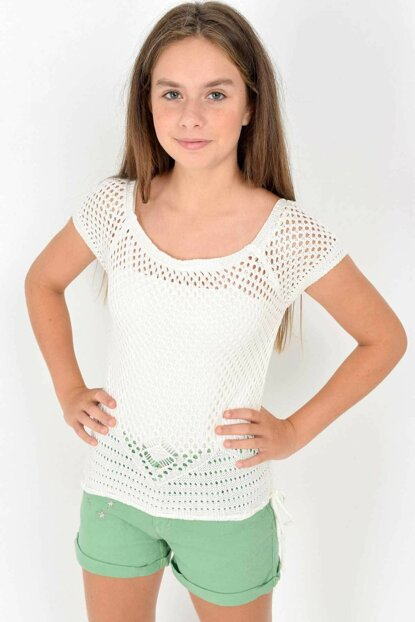 Marions Girls' Fishnet Pullover 3626 MRNS-19AW-MG3626 Compare