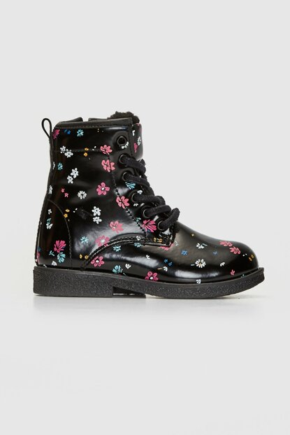 Girls' Black Printed Lqj Boots 9W9763Z4