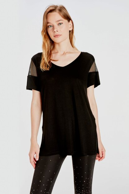 Women's New Black T-Shirt 9WI238Z8