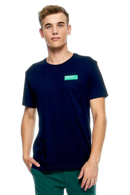 Men's Benetton Logo Short Sleeve Tshirt 311933096J14H0