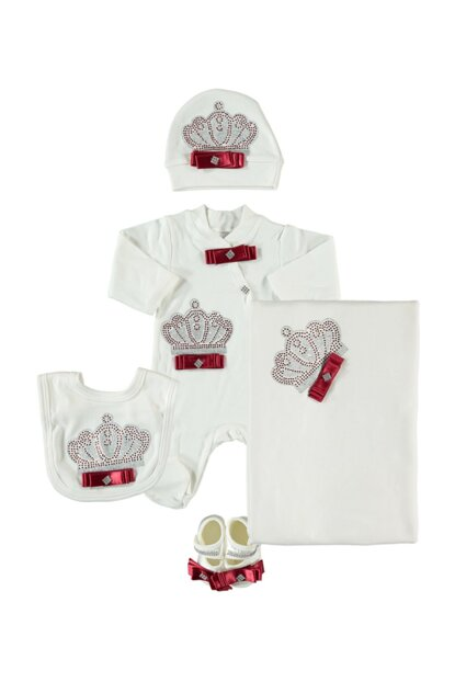 Red Crowned 5 Piece Baby Hospital Outlet Set PP774K