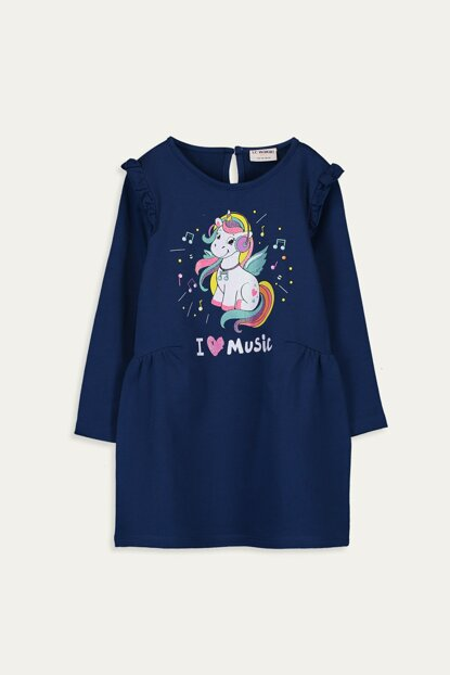 Girl Kids Outdoor Navy Blue Hkf Dress 9WS998Z4