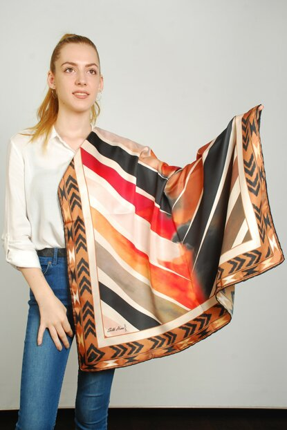 Women Multi Color Sport Polyester Scarf 9351163
