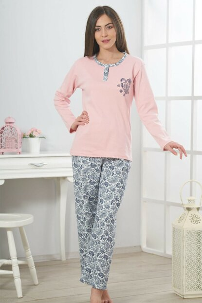 Women's Powder Interlock Pajama Set 19313