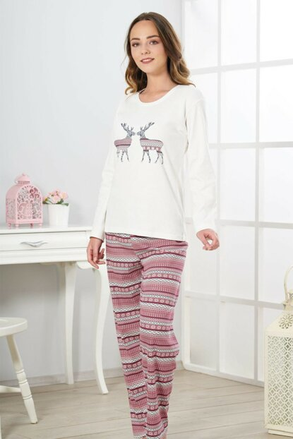 Women's Ecru Interlock Pajama Set 19321