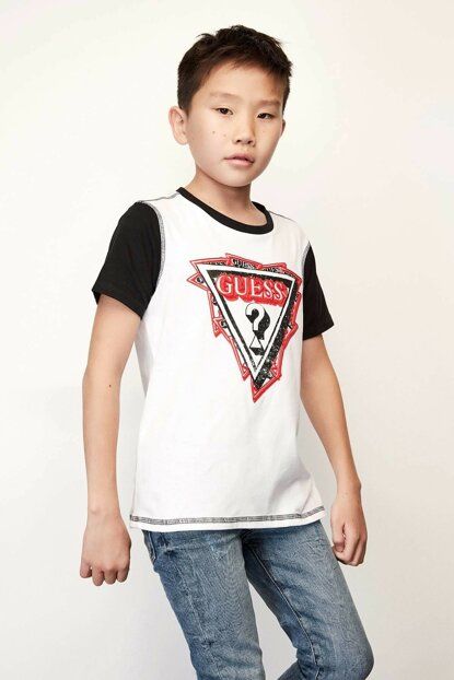 Boys' White T-Shirt 19FWGL94I21