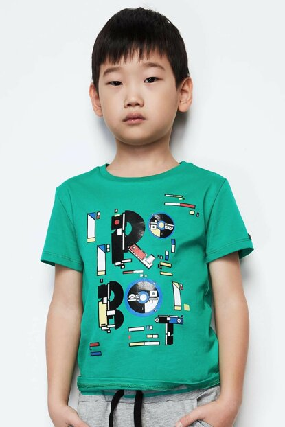 Boys' Green T-Shirt 19PFWNB3507 Click to enlarge