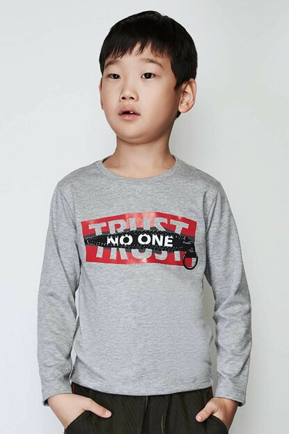 Boy Gray T-Shirt 19FW0NB3513