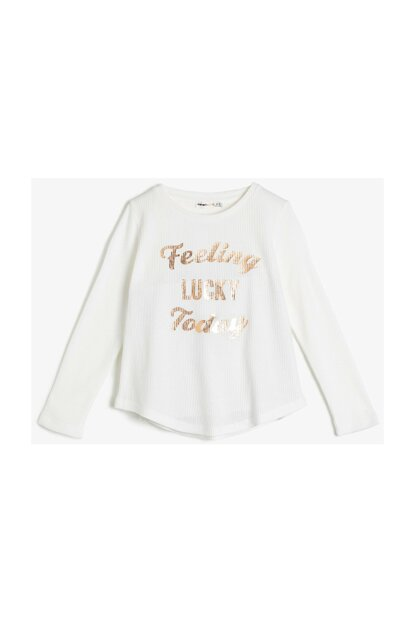 Ecru Children's Printed T-Shirt 0KKG17947OK