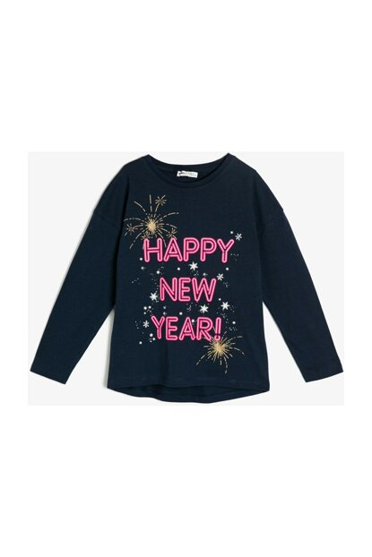 Navy Blue Children Printed T-Shirt 0KKG17037AK