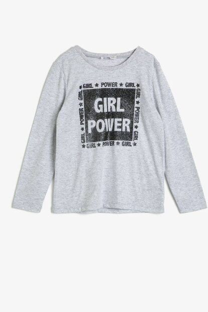 Gray Girl Summer Printed T-Shirt 0YKG17345AK