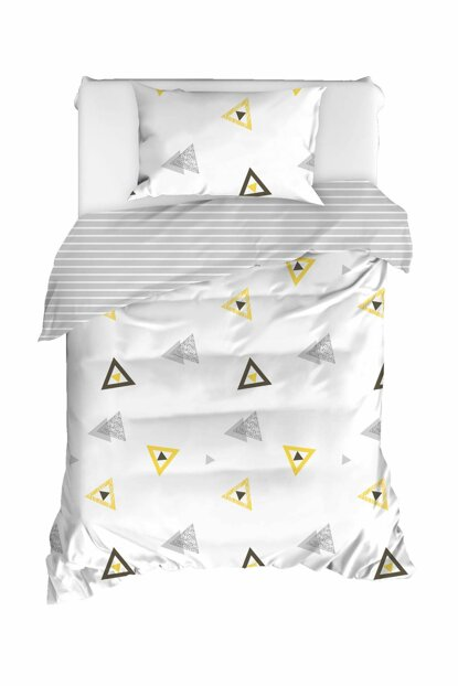 100% Natural Cotton Single Size Duvet Cover Set Erois White Ep-020300