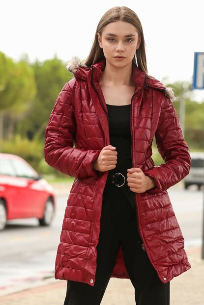 Bright Red Women Inflatable Coats MNT0421K1616