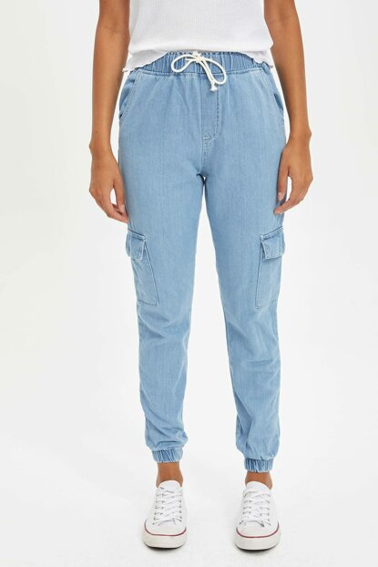 Women's Blue Cargo Pants