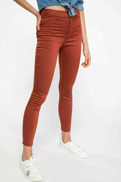 Women's Orange Super Skinny Fit Trousers J5604AZ.18AU.OG185