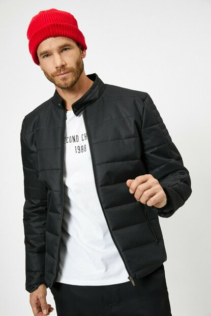 Men's Black Coat 0KAM21082LW