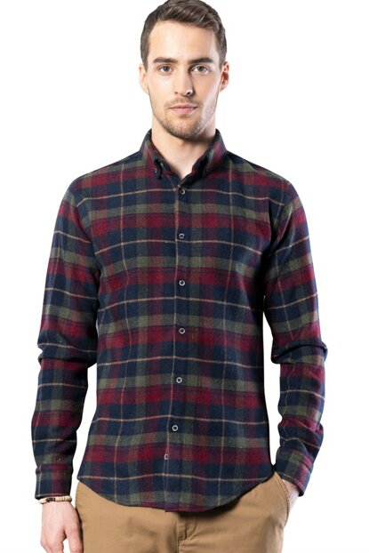 Slim Fit Winter Men's Shirt - DR200006-601