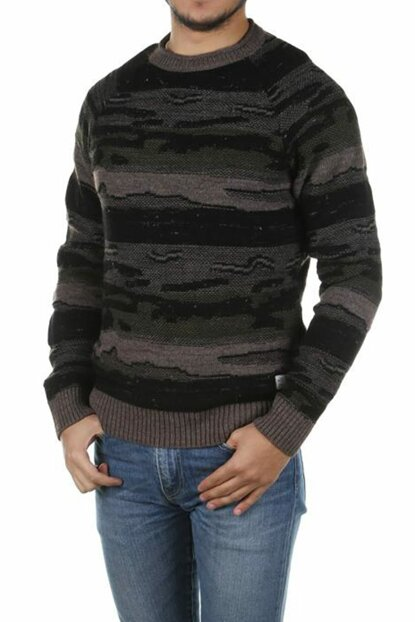 Men's Camouflage Patterned O-Neck Sweater 12144512
