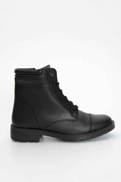 Men's Black Leather Looking Boot 8WH146Z8