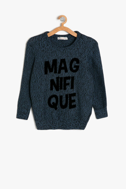 Navy Blue Boy Sweater 9KKB96855OT