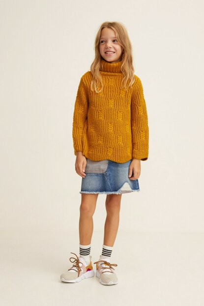 Medium Denim Children's Skirt 33045747