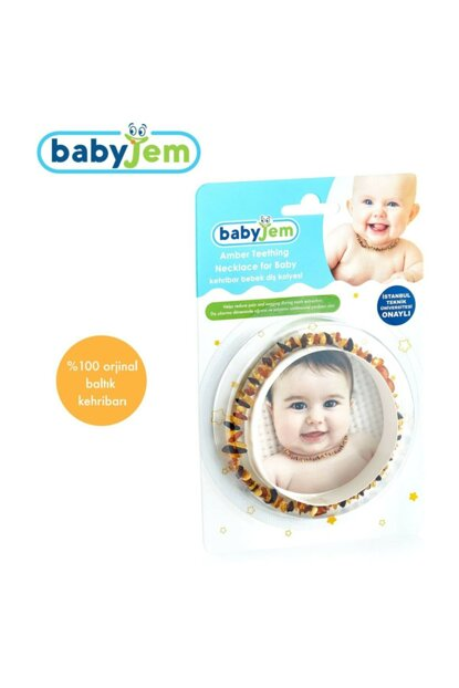 Baby Jem Amber Baby Teeth Necklace Mixed 117029typistipis