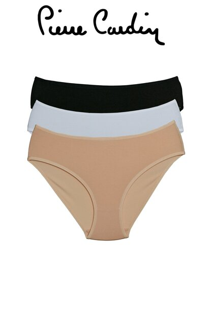 Women's Black-White-Skin White Black Skin 3-Piece Thick Edged Classic Slip Briefs 200603
