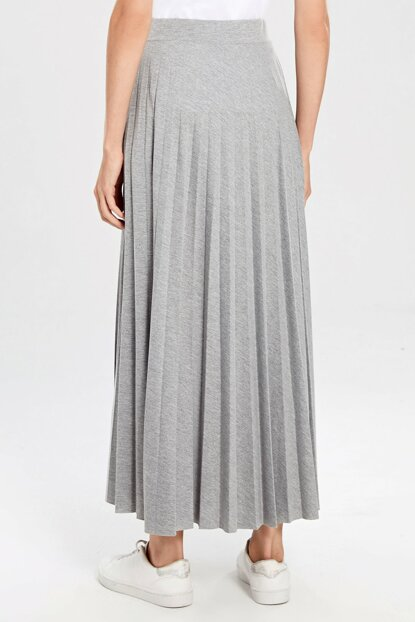 Women's Gray Melange Skirt 0S5883Z8
