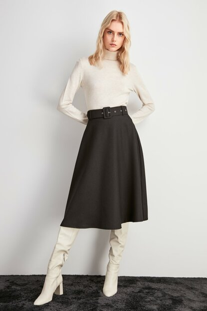 Black Belt Detailed Skirt TWOAW20ET0604