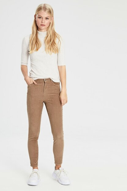 Women's Beige Trousers 9W4918Z8